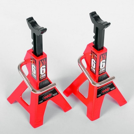Pair Of Red Jack Stands