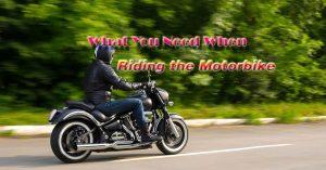 riding the motorbike